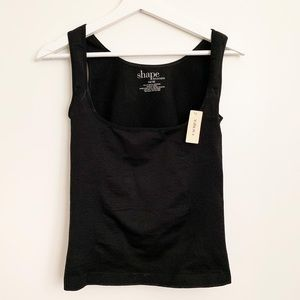 Shape by cacique tank shapewear plus black 14/16